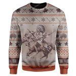 Gearhumans Ugly Shadows of the Warriors Custom Sweater Apparel