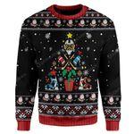 Gearhumans Ugly Christmas Ice Hockey Christmas Tree Sweater Apparel