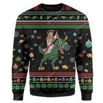 Gearhumans Custom Ugly Jesus Christmas Sweater Jumper