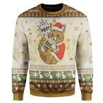 Gearhumans Ugly Cat Custom Sweater Apparel