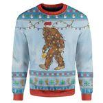 Gearhumans Ugly Christmas Bigfoot Sweater Apparel