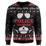 Gearhumans Ugly Christmas Police Navidad Custom Sweater Apparel
