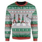 Gearhumans Custom Ugly Christmas Road Sweater Jumper