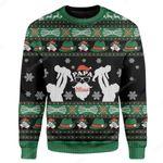 Gearhumans Custom Ugly Papa Claus Christmas Sweater Jumper
