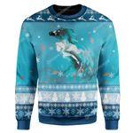 Gearhumans Ugly Christmas Princess Custom Sweater Apparel