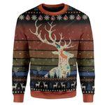 Gearhumans Ugly Deer Custom Sweater Apparel
