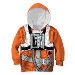 Gearhumans SW X-WING PILOT Kid Custom Hoodies T-shirt Apparel