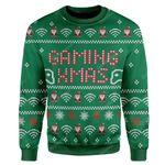 Gearhumans Ugly Gaming Xmas Custom Sweater Apparel