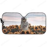 Gearhumans Custom Car Auto Sunshade Sunflowers And Astronaut