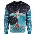 Gearhumans Custom Ugly Jesus And Santa Christmas Sweater Jumper