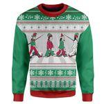 Gearhumans Custom T-shirt - Long Sleeves Ugly Christmas Christmas Sweater Jumper