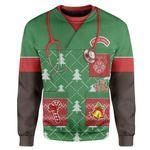 Gearhumans Custom T-shirt - Long Sleeves Ugly Christmas African American Nurse Christmas Sweater Jumper
