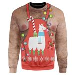 Gearhumans Custom Ugly Christmas Santa Sweater Jumper