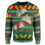 Gearhumans Custom Ugly Christmas Cake Sweater Jumper