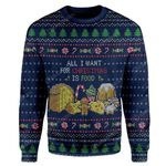 Gearhumans Ugly All I Want For Christmas Is Food Custom Sweater Apparel