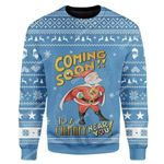 Gearhumans Custom Ugly Santa Christmas Sweater Jumper