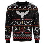 Gearhumans Custom HP Ugly Christmas Christmas Sweater Jumper