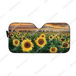 Gearhumans Custom Car Auto Sunshade Sunflowers