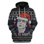 Gearhumans Ugly Oh Hi Santa Custom T-shirt - Hoodies Apparel