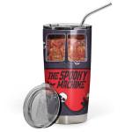 Gearhumans 3D The Spooky Machine Skeleton Halloween Custom Design Vacuum Insulated Tumbler