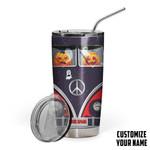 Gearhumans 3D The Spooky Machine Hippie Van Custom Name Design Vacuum Insulated Tumbler