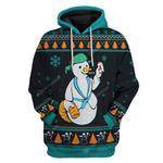 Gearhumans Ugly Merry Christmas Sh*tter's Full Snowman Custom T-Shirts Hoodies Apparel