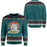 Gearhumans Ugly Christmas Cat Custom T-shirt - Hoodies Apparel