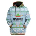 Gearhumans Ugly Christmas Am I Rockin This Extra Chromosome Hoodie T-Shirts Apparel