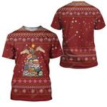 Gearhumans Ugly Christmas Sushi Custom T-shirt - Hoodies Apparel