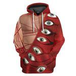 Gearhumans 3D Freddie Mercury Eyeball Suit Custom Hoodie Apparel