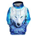 Gearhumans Wolf Hoodies - T-Shirt Apparel