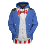 Gearhumans 3D Uncle Sam Cosplay Halloween Custom Hoodie Apparel