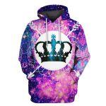Gearhumans Crown Galaxy Hoodies T-Shirt Apparel