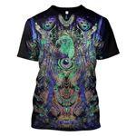 Gearhumans 3d Psychedelic Owl Hoodies T-Shirt Apparel