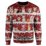 Gearhumans Ugly Christmas Dog Custom T-shirt - Hoodies Apparel