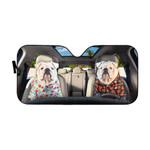Gearhumans 3D Bulldog 09 Custom Car Auto Sunshade