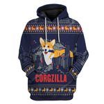 Gearhumans Ugly Corgzilla Christmas Custom T-Shirts Hoodies Apparel