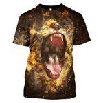 Gearhumans Roaring Lion Hoodies - T-Shirts Apparel