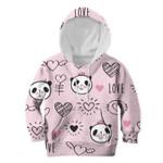 Gearhumans Panda In Love Custom Hoodies T-shirt Apparel