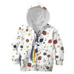 Gearhumans Unicorn with planets Kid Custom Hoodies T-shirt Apparel