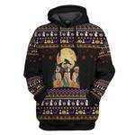 Gearhumans 3D Golden Retriever Halloween Ugly Sweater Custom Hoodie Apparel