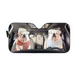 Gearhumans 3D Bulldog 18 Custom Car Auto Sunshade