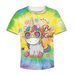 Gearhumans Unicorn Be Kind Kid Custom Hoodies T-shirt Apparel