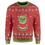 Gearhumans Ugly Pugrinch Christmas Hoodie T-Shirts Apparel