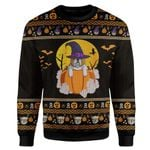 Gearhumans 3D Bulldog Halloween Ugly Sweater Custom Sweatshirt Apparel