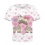 Gearhumans happy giraffe Kid Custom Hoodies T-shirt Apparel