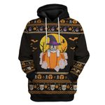 Gearhumans 3D Bulldog Halloween Ugly Sweater Custom Hoodie Apparel
