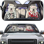 Gearhumans 3D Bulldog 13 Custom Car Auto Sunshade