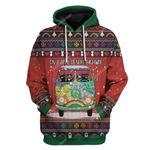 Gearhumans Ugly Christmas Cat On A Dark Desert Highway Hoodie T-Shirts Apparel