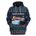 Gearhumans Ugly Merry Spacemas Custom T-shirt - Hoodies Apparel